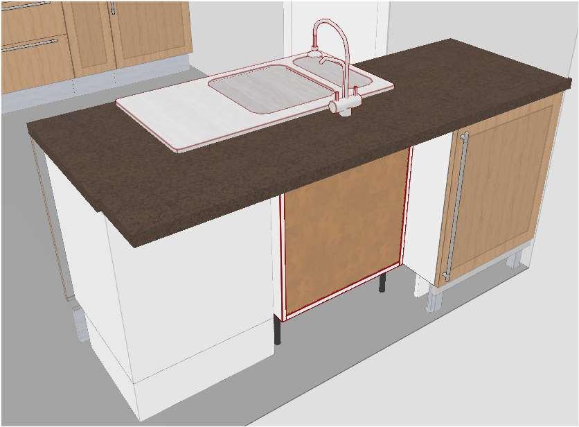 Chambre A Coucher Noir Et Rouge : Cuisine Ikea Tidaholm  Réalisation caisson angle pour hotte  27